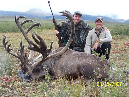 2007 Lucas Liska with his First Trophy Alaska Brooks Range Baren Ground Caribou w00037