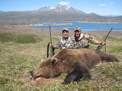 James Hakin with and Alaska Sprinng Bear with  Deltana Outfitters
