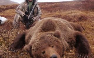 Sean Donavan with Alaska Grizzly Bear