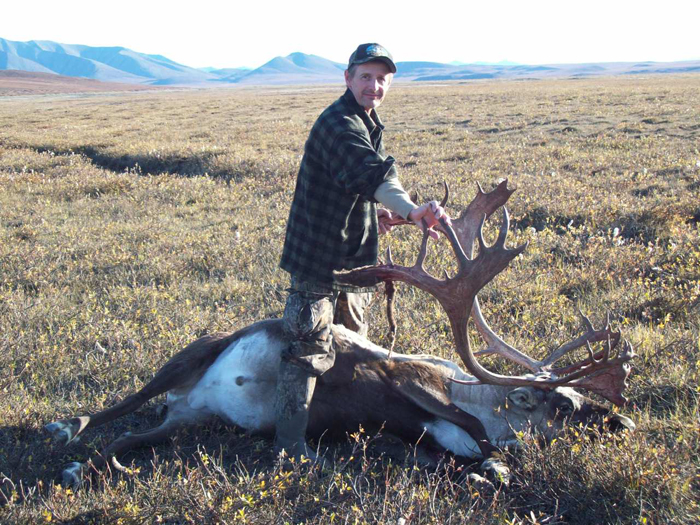 Alan Cory with his trophy caribou