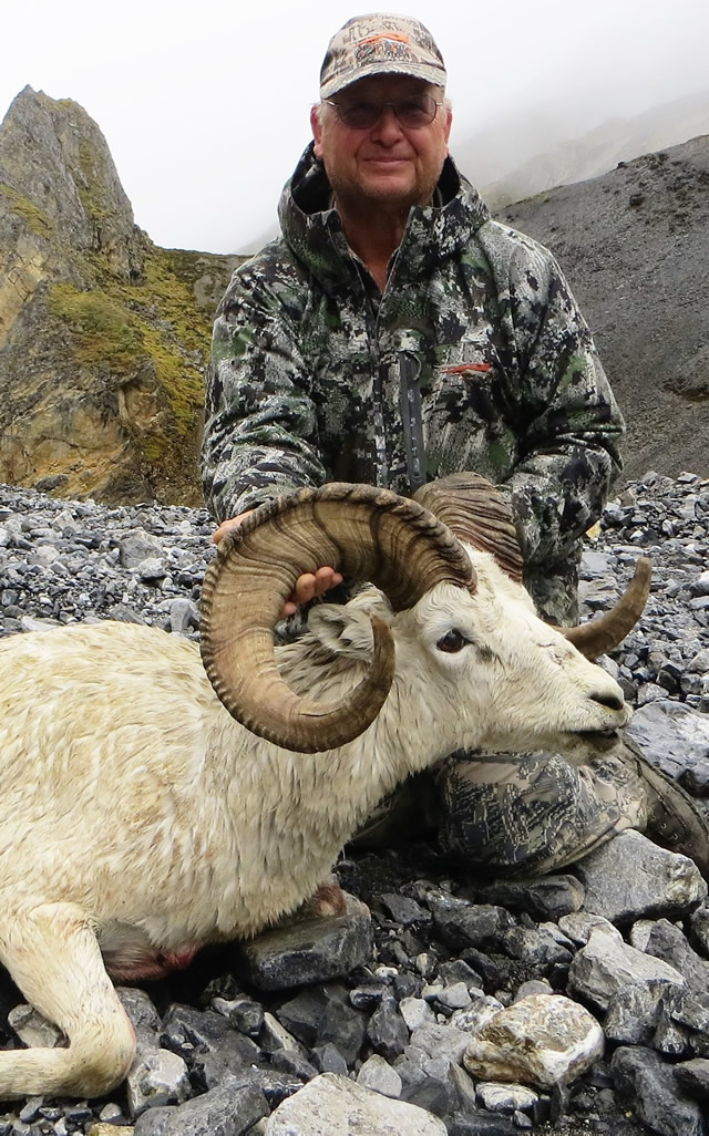 Clay Altenburn with his Alaska Dall Sheep-2016 Deltana Outfitters