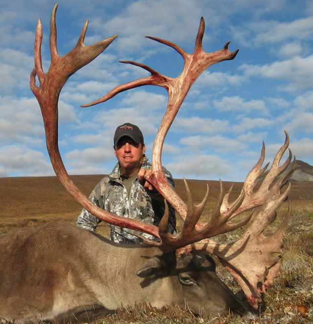 Cory Posoer-2016 with his Caribou - Deltana Outfitters