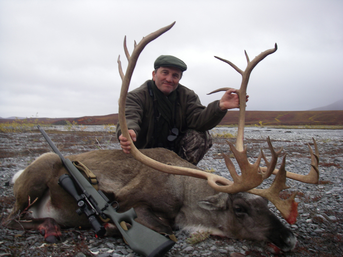 DR. Zsolt Kohalmi with one of his two Great Brooks Rang Caribou after taking his Trophy Ram