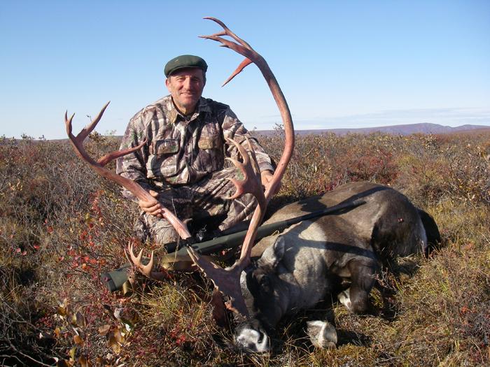 DR. Zsolt Kohalmi with trophy caribou 2008