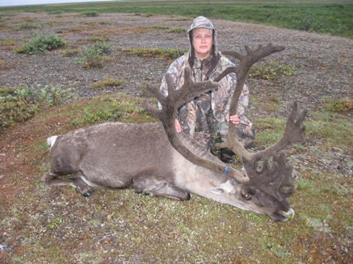 Dee Pitts with her Brooks Range Barren Ground Caribou
