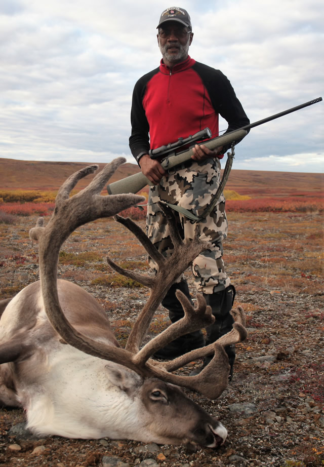 Dwight Jones and his Caribou - Deltana Outfitters Alaska 2016