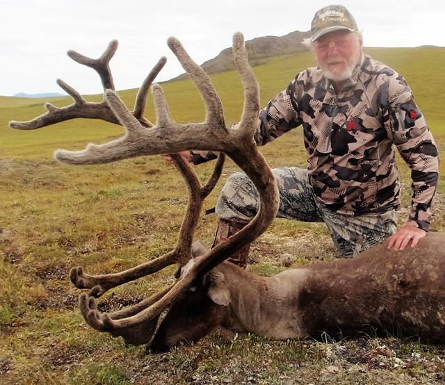 Gary Nelson with his 2016 Caribou - Deltana Outfitters Alaska Hunt