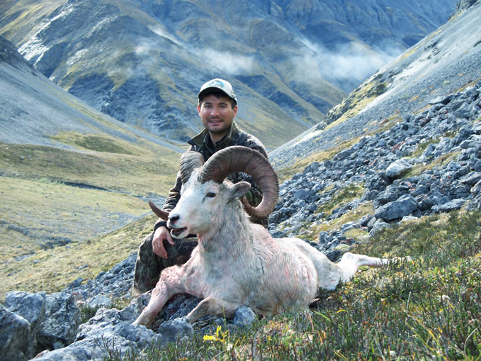 Gonzolo Villarreal Berlanga From Spain with his Brooks Range Trophy Dall Sheep 2010