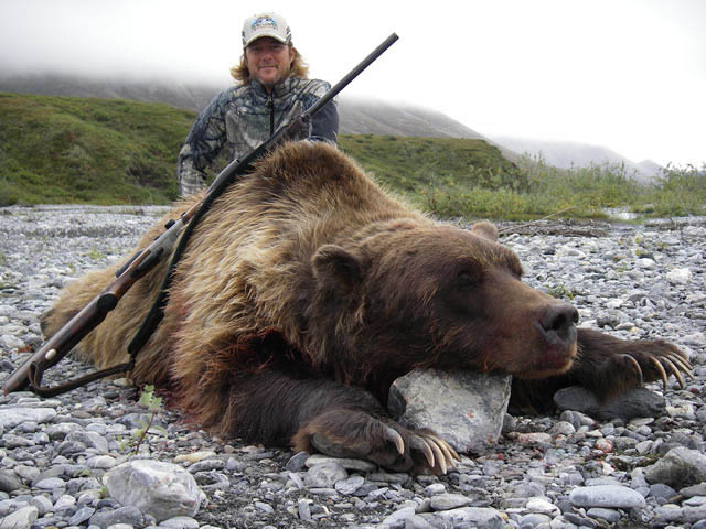 Jaime Melendez From Spain with His Trophy Artic Grizzly Bear