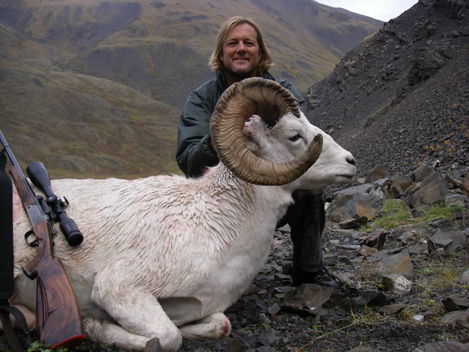 Jaime Melendez From Spain with his Brooks Range Trophy Dall Sheep 2010