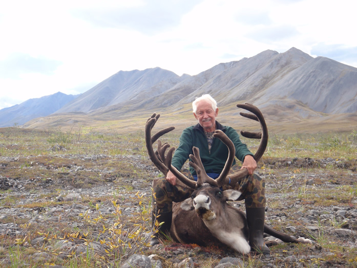 Jan DeAngeli with his first Trophy Caribou 2010
