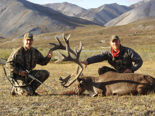 Jim Durant with 2 nd Barren Ground Brooks Range Caribou