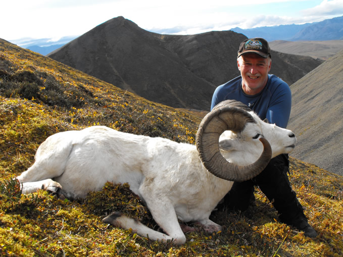 Joseph  Osmulski with his Trophy Dall Sheep 2010
