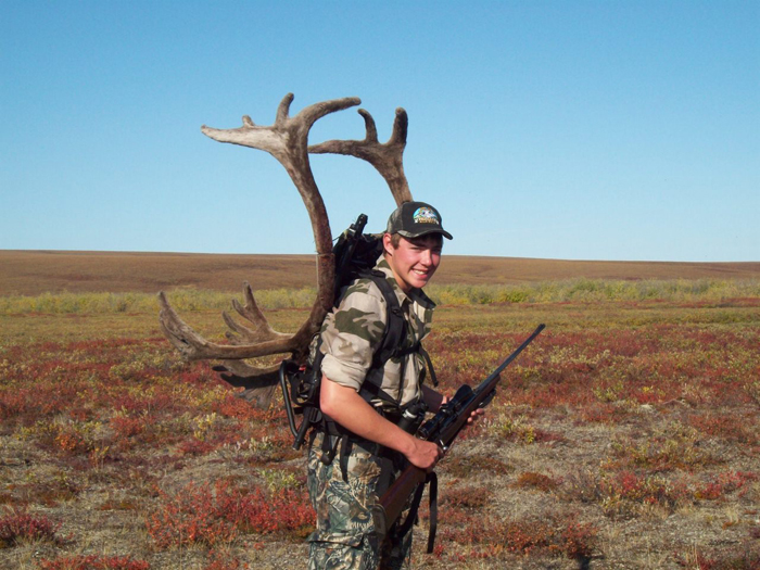 Kenny Packard with his trophy brooks range caribou