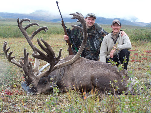 Lucas Liska with his First Trophy Alaska Brooks Range Baren Ground Caribou