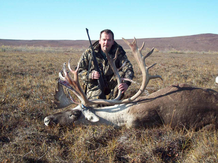 Lyndon Ryan with trophy caribou