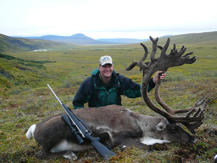 Parker Shipley with one of his Trophy Brooks Range Caribou 2010