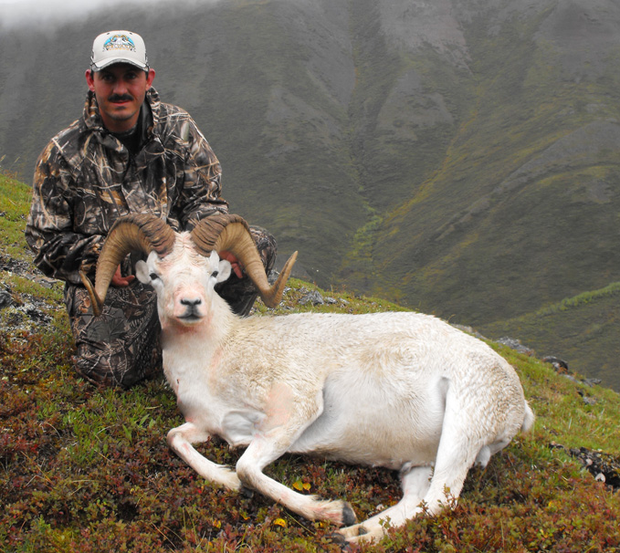 ROSENDO VILLARREAL From Mexico with his Trophy Dall Sheep  2010