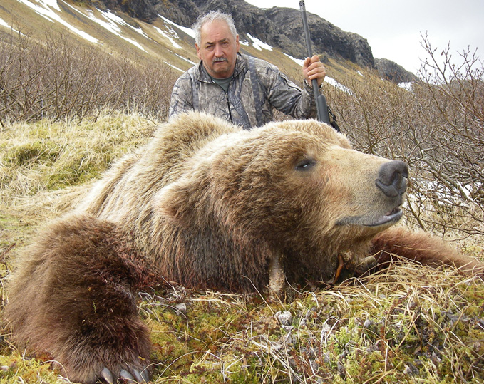 Ray Furman with his spring 2010 Brown Bear