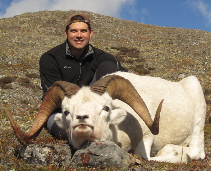Robert  DE Villiers From England with his Brooks Range  Trophy Dall Sheep 2010