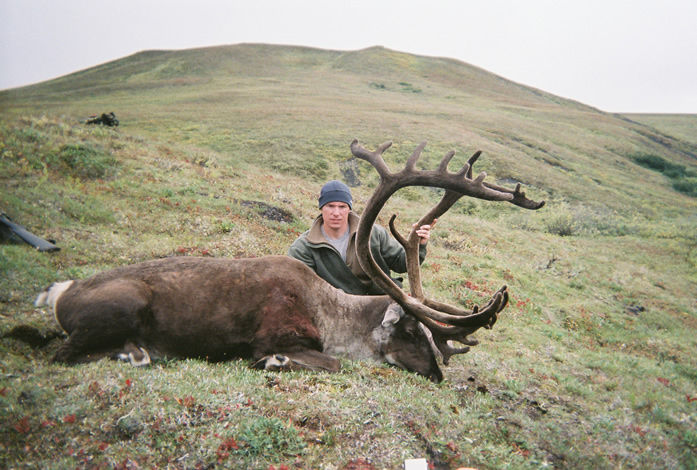 Steve Larson with one of His two Great Brooks Range Caribou 2010