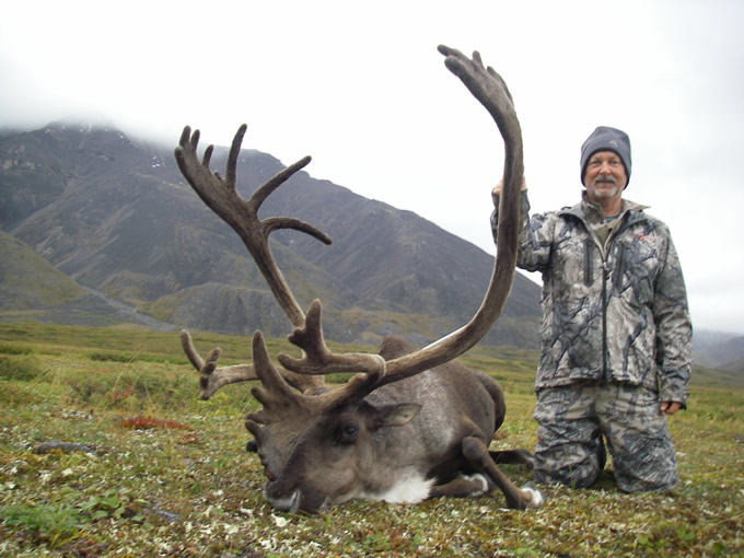 Thomas Wimberly with his Alaska Brooks Range Caribou